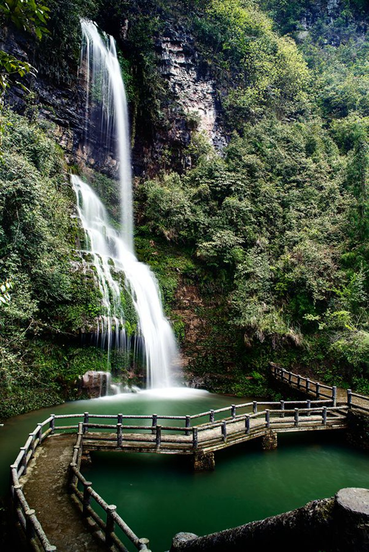 壁纸 风景 旅游 瀑布 山水 桌面 720_1078 竖版 竖屏 手机