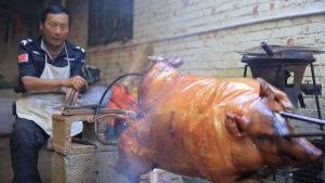 元谋烤乳猪