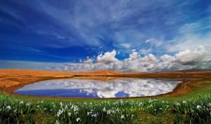 阿拉善腾格里沙漠【天鹅湖】(国家AAAA级景区)