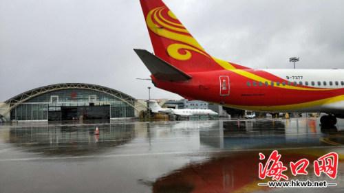 在海南你见过飞机在水上起飞的吗?