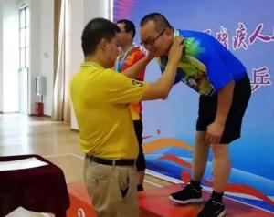 元谋选手毛建林荣获云南省第十一界残疾人特殊奥林匹克乒乓球男子单打冠军