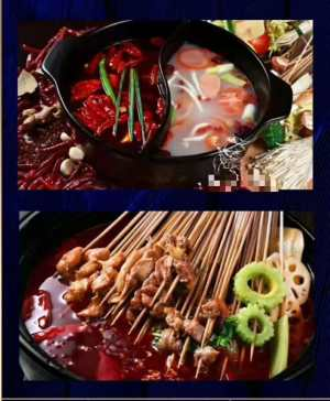 大优惠12.8两人串串套餐试吃60根签签+花生米+卤菜荤拼盘