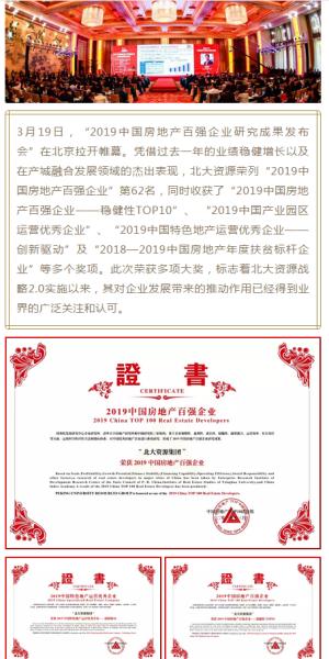 集团资讯丨战略2.0助推 北大资源获中国指数研究院多项大奖