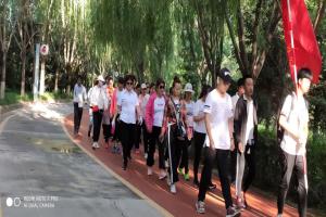 """東安社區開展""""全民健身日""""健步走活動"""