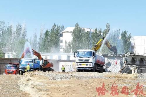 哈密河生态恢复 二期工程全面开建