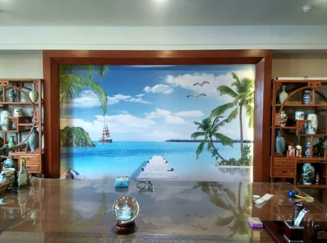 儋州墙布墙纸壁画背景墙软包硅藻泥